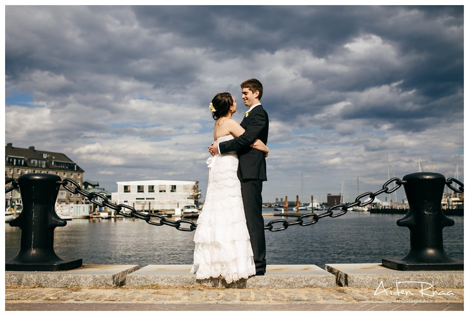 boston harbor hotel wedding overlooking water