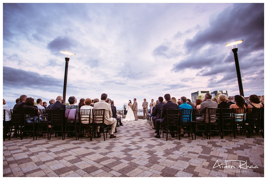 boston new england aquarium wedding ceremony
